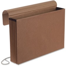 "Pendaflex Legal Recycled Expanding File - 8 1/2"" x 14"" - 5 1/4"" Expansion - Red Fiber, Leather - 30% Recycled - 1 Each"