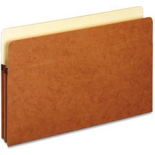"Pendaflex Legal Recycled File Pocket - 8 1/2"" x 14"" - 1 3/4"" Expansion - Top Tab Location - Redrope - 10% - 1 Each"