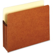 """Pendaflex Letter Recycled File Pocket - 8 1/2"""" x 11"""" - 3 1/2"""" Expansion - Top Tab Location - Redrope - 10% Recycled - 1 Each"""