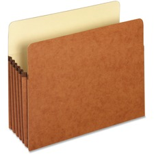 """Pendaflex Letter Recycled File Pocket - 8 1/2"""" x 11"""" - 5 1/4"""" Expansion - Top Tab Location - Redrope - 10% Recycled - 1 Each"""