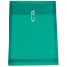 "Winnable Transparent Poly Inter-Department Envelope - Clasp - 9 1/2"" Width x 13"" Length - Poly - 1 Each - Green"