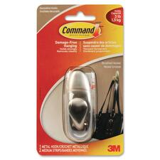 3M Command Forever Classic Hook - 1.36 kg Capacity - for Garment - Metal, Nickel - 1 Each
