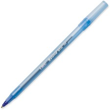 BIC Round Stic Ballpoint Pen - Medium Pen Point - Blue - 12 / Box