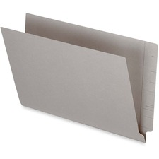 "Pendaflex Legal Recycled End Tab File Folder - 3/4"" Expansion - Gray - 10% - 50 / Box"