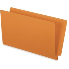 """Pendaflex Legal Recycled End Tab File Folder - 9 1/2"""" x 15 1/4"""" - 3/4"""" Expansion - Orange - 10% Recycled - 50 / Box"""