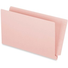 "Pendaflex Legal Recycled End Tab File Folder - 3/4"" Expansion - Pink - 10% - 50 / Box"