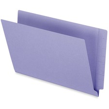 "Pendaflex Legal Recycled End Tab File Folder - 3/4"" Expansion - Purple - 10% - 50 / Box"