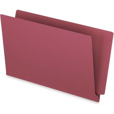 """Pendaflex Legal Recycled End Tab File Folder - 9 1/2"""" x 15 1/4"""" - 3/4"""" Expansion - Red - 10% Recycled - 50 / Box"""