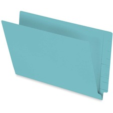 "Pendaflex Legal Recycled End Tab File Folder - 3/4"" Expansion - Turquoise - 10% - 50 / Box"