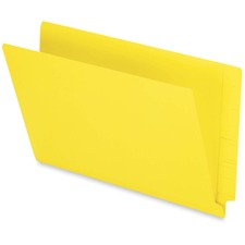 """Pendaflex Legal Recycled End Tab File Folder - 9 1/2"""" x 15 1/4"""" - 3/4"""" Expansion - Yellow - 10% Recycled - 50 / Box"""