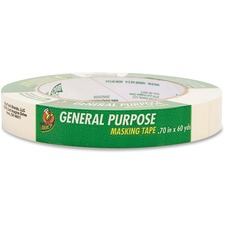 "Henkel General Purpose Masking Tape - 0.75"" (19.1 mm) Width x 60 yd (54.9 m) Length - 3"" Core - Rubber - Crepe Paper Backing - Temperature Resistant - 1 Each"