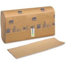 "Tork Coronet Multifold Hand Towel - 1 Ply - 9.1"" x 9.5"" - Natural - Fiber - Absorbent, Soft - 4000 Per Carton - 4000 / Carton"