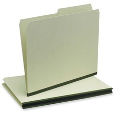 "Pendaflex 1/2 Cut Pressboard File Folder - Letter - 8 1/2"" x 11"" Sheet Size - 1/2 Tab Cut - Right Tab Location - 22 pt. Folder Thickness - Pressboard - Green - Recycled - 50 / Box"