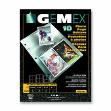 "Gemex Photo Page Holder - 4 Capacity - 5"" (127 mm) Width x 7"" (177.80 mm) Length"