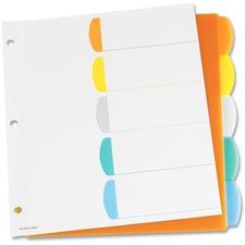 """Oxford Color Coded Index Divider - 5 x Divider(s) - 24 Tab(s) - 9"""" Divider Width x 11"""" Divider Length - Assorted Divider - 1 / Set"""