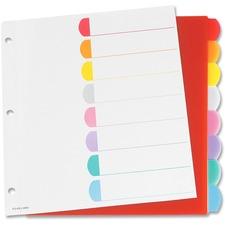 """Oxford Color Coded Index Divider - 8 x Divider(s) - 24 Tab(s) - 9"""" Divider Width x 11"""" Divider Length - Assorted Divider - 1 / Set"""