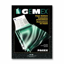 """Gemex Top-loading Page Protectors - 0"""" Thickness - For Letter 8 1/2"""" x 11"""" Sheet - 3 x Rings - Ring Binder - Rectangular - Polypropylene - 100 / Box"""