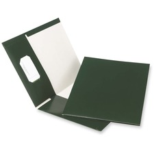 "Oxford Letter Recycled Pocket Folder - 8 1/2"" x 11"" - 100 Sheet Capacity - 2 Pocket(s) - Green - 100% Recycled - 25 / Box"