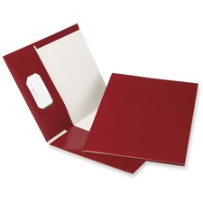 "Oxford Letter Recycled Pocket Folder - 8 1/2"" x 11"" - 100 Sheet Capacity - 2 Pocket(s) - Burgundy - 100% Recycled - 25 / Box"