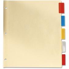 Oxford Insertable Index Tab - 5 Tab(s) - Legal - Assorted Plastic Tab(s) - 5 / Set