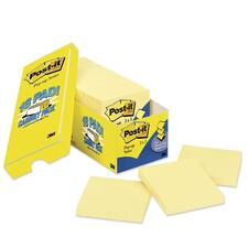 """Post-it® Notes Cabinet Pack - 1620 x Yellow - 3"""" x 3"""" - Square - Canary Yellow - Removable - 18 / Pack"""