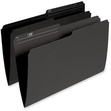 "Pendaflex 1/2 Tab Cut Legal Recycled Top Tab File Folder - 8 1/2"" x 14"" - Black - 10% Recycled - 100 / Box"
