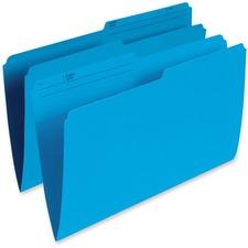 "Pendaflex 1/2 Tab Cut Legal Recycled Top Tab File Folder - 8 1/2"" x 14"" - Blue - 10% Recycled - 100 / Box"