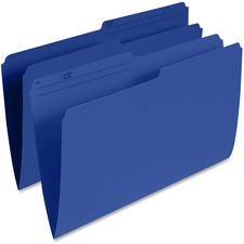 "Pendaflex 1/2 Tab Cut Legal Recycled Top Tab File Folder - 8 1/2"" x 14"" - Navy - 10% Recycled - 100 / Box"