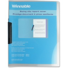 """Winnable Letter Report Cover - 8 1/2"""" x 11"""" - 30 Sheet Capacity - Plastic - Clear - 1 Each"""