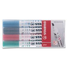Schwan-STABILO Plan 64 Broad Whiteboard Marker - Chisel Marker Point Style - Assorted - 4 / Set