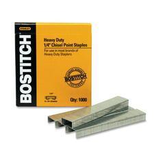 "Stanley-Bostitch SB351/4-5M Heavy Duty Staple - Heavy Duty - 1/4"" Leg - Holds 25 Sheet(s) - Chisel Point - Steel5000 / Box"