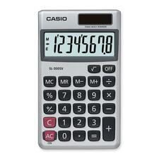 "Casio SL300SVSCH Handheld Calculator - Independent Memory - 8 Digits - Battery/Solar Powered - 0.3"" x 2.8"" x 4.6"" - 1 Each"