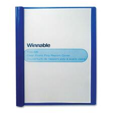 """Winnable Letter Report Cover - 8 1/2"""" x 11"""" - 80 Sheet Capacity - 3 Fastener(s) - Blue, Clear - 1 Each"""