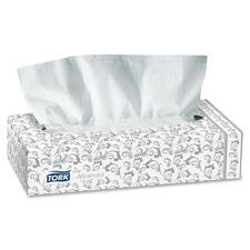 "Tork Coronet Facial Tissue - 2 Ply - 8.5"" x 4.5"" - White - 100 Sheets Per Box - 100 / Box"