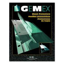 "Gemex Side-loading Sheet Protectors - For Letter 8"" x 11"" Sheet - Ring Binder - Rectangular - Clear - Vinyl - 50 / Box"