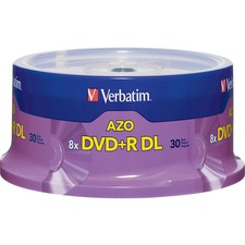 VER 96542 Verbatim 8X Branded Double Layer DVD+R VER96542