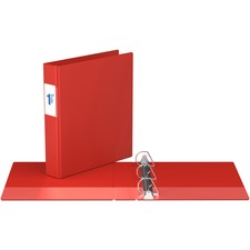 """Davis Angle-D Ring Commercial Binder - 1 1/2"""" Binder Capacity - Letter - 8 1/2"""" x 11"""" Sheet Size - D-Ring Fastener(s) - Chipboard - Red - Recycled - Label Holder - 1 Each"""