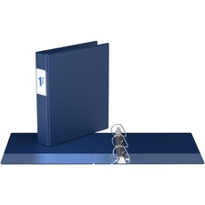 """Davis Angle-D Ring Commercial Binder - 1 1/2"""" Binder Capacity - Letter - 8 1/2"""" x 11"""" Sheet Size - D-Ring Fastener(s) - Chipboard - Royal Blue - Recycled - Label Holder - 1 Each"""