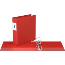"""Davis Angle-D Ring Commercial Binder - 2"""" Binder Capacity - 8 1/2"""" x 11"""" Sheet Size - D-Ring Fastener(s) - Chipboard - Red - Recycled - 1 Each"""