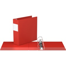 """Davis Angle-D Ring Commercial Binder - 3"""" Binder Capacity - Letter - 8 1/2"""" x 11"""" Sheet Size - D-Ring Fastener(s) - Chipboard - Red - Recycled - Label Holder - 1 Each"""