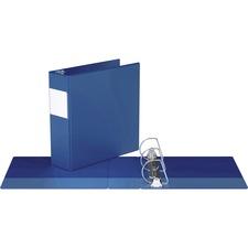 "Davis D Ring Commercial Binder - 3"" Binder Capacity - 8 1/2"" x 11"" Sheet Size - D-Ring Fastener(s) - 2 Inside Front & Back Pocket(s) - Royal Blue - Recycled - 1 Each"