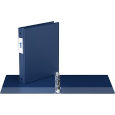 """Davis Round Ring Commercial Binder - 1"""" Binder Capacity - 8 1/2"""" x 11"""" Sheet Size - 3 x Round Ring Fastener(s) - 2 Inside Front & Back Pocket(s) - Royal Blue - Recycled - 1 Each"""