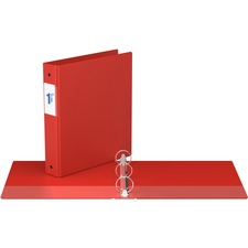 """Davis Round Ring Commercial Binder - 1 1/2"""" Binder Capacity - 8 1/2"""" x 11"""" Sheet Size - 3 x Round Ring Fastener(s) - 2 Inside Front & Back Pocket(s) - Red - Recycled - 1 Each"""