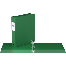 """Davis Round Ring Commercial Binder - 1 1/2"""" Binder Capacity - 8 1/2"""" x 11"""" Sheet Size - 3 x Round Ring Fastener(s) - 2 Inside Front & Back Pocket(s) - Green - Recycled - 1 Each"""