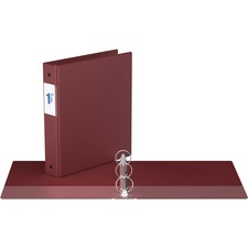 """Davis Round Ring Commercial Binder - 1 1/2"""" Binder Capacity - 8 1/2"""" x 11"""" Sheet Size - 3 x Round Ring Fastener(s) - 2 Inside Front & Back Pocket(s) - Maroon - Recycled - 1 Each"""