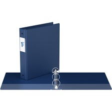 """Davis Round Ring Commercial Binder - 1 1/2"""" Binder Capacity - 8 1/2"""" x 11"""" Sheet Size - 3 x Round Ring Fastener(s) - 2 Inside Front & Back Pocket(s) - Royal Blue - Recycled - 1 Each"""