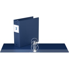 """Davis Round Ring Commercial Binder - 3"""" Binder Capacity - 8 1/2"""" x 11"""" Sheet Size - 3 x Round Ring Fastener(s) - 2 Inside Front & Back Pocket(s) - Royal Blue - Recycled - 1 Each"""