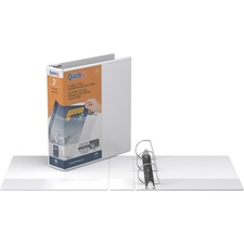 """QuickFit QuickFit Angle D-ring View Binder - 2"""" Binder Capacity - Letter - 8 1/2"""" x 11"""" Sheet Size - 3 x D-Ring Fastener(s) - White - Recycled - Clear Overlay - 1 Each"""