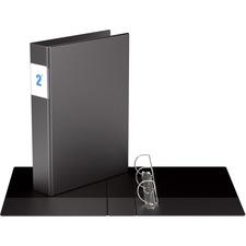 """Davis Special Legal-size D-ring Binder - 2"""" Binder Capacity - Legal - 8 1/2"""" x 14"""" Sheet Size - 475 Sheet Capacity - 3 x D-Ring Fastener(s) - Vinyl - Black - Recycled - Spine Label - 1 Each"""