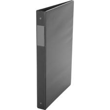 """Davis Special Legal-size D-ring Binder - 1"""" Binder Capacity - Legal - 8 1/2"""" x 14"""" Sheet Size - 225 Sheet Capacity - 3 x D-Ring Fastener(s) - Vinyl - Black - Recycled - Label Holder - 1 Each"""